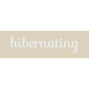 Winter Arabesque Label- Hibernating