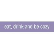 Winter Arabesque Label- Eat Drink Be Cozy