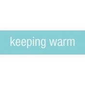 Winter Arabesque Label- Keeping Warm