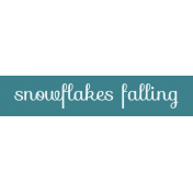 Winter Arabesque Label- Snowflakes Falling