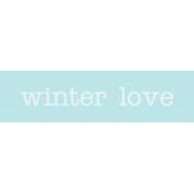 Winter Arabesque Label- Winter Love