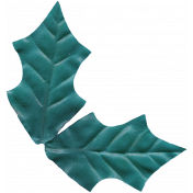 Winter Arabesque Leaf- Teal