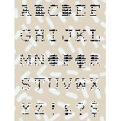 Winter Arabesque Scrap- Alphabet