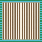 Paper 336- Stripes Green & Brown Wandering Road