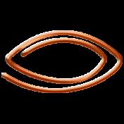 Here & Now Fastener- Oval Orange