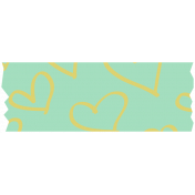 Here & Now Washi Tape- Hearts