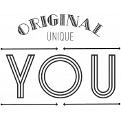 Label 3- Original You- Here & Now Word Art Template
