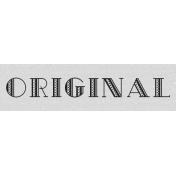 Original Label- Here & Now Word Art