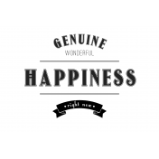 Here & Now Genuine Happiness 4x6 Pocket Card