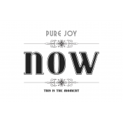 Here & Now Pure Joy 4x6 Pocket Card
