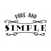 Here & Now Pure & Simple 4x6 Pocket Card