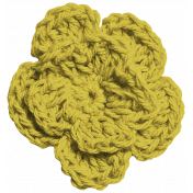 Here & Now Flower- Crochet Yellow