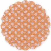 Here & Now Flower- Tissue Polka Dot Orange