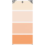 Here & Now Label- Orange Paint Chip