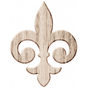 Wood 3 - Fleur De Lis Here & Now Wood Kit