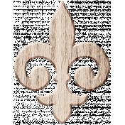Wood 3- Fleur De Lis Here & Now Wood Kit
