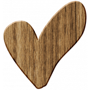 Wood 13- Heart Here & Now Wood Kit