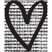 Heart 006 Template - Heart Brush Kit #3