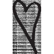 Heart 007 Template- Heart Brush Kit #3