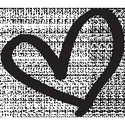 Heart 008 Template- Heart Brush Kit #3