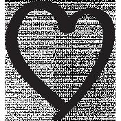 Heart 011 Template- Heart Brush Kit #3