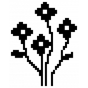 Flower 01- Template Video Game Valentine Stamp