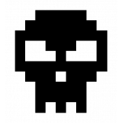 Skull Large- Template Video Game Valentine Stamp