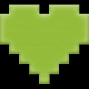 Video Game Valentine Rubber Stamp- Heart 2