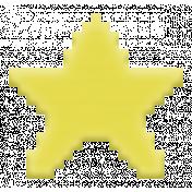 Video Game Valentine Rubber Stamp- Star