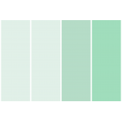 Here & Now- Paint Chip Pocket Card- 4x6- Seafoam
