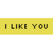 Video Game Valentine Label- I Like You