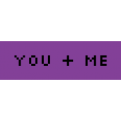 Video Game Valentine Label- You & Me