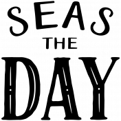 The Captain Wordart- Seas the Day