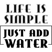 Fisher Word Art- Just Add Water