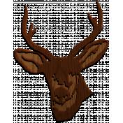 Hunter Wood Deer Head
