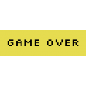 Video Game Valentine Label- Game Over