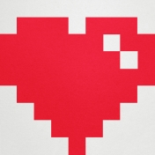 Video Game Valentine Heart Paper- Giant