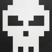 Video Game Valentine Skull Paper- Giant