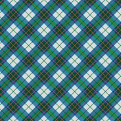 Oregonian Paper Plaid- Blue & Green