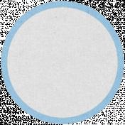 Oregonian Circle Label- Light Blue