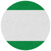 Oregonian Circle Label- Green