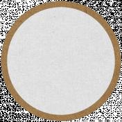Oregonian Circle Label- Brown