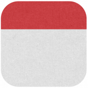 Oregonian Round Label- Red