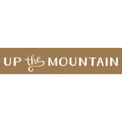 Oregonian Label- Up the Mountain