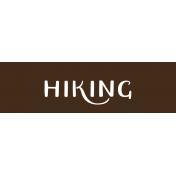 Oregonian Label- Hiking