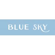 Oregonian Label- Blue Sky