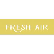 Oregonian Label- Fresh Air