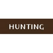 Oregonian Label- Hunting