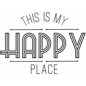 Oregonian Word Art Happy Place