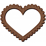 Panda Love Wood Heart Frame